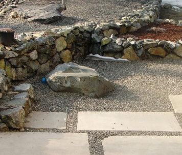 Rock garden landscaping in Anchorage